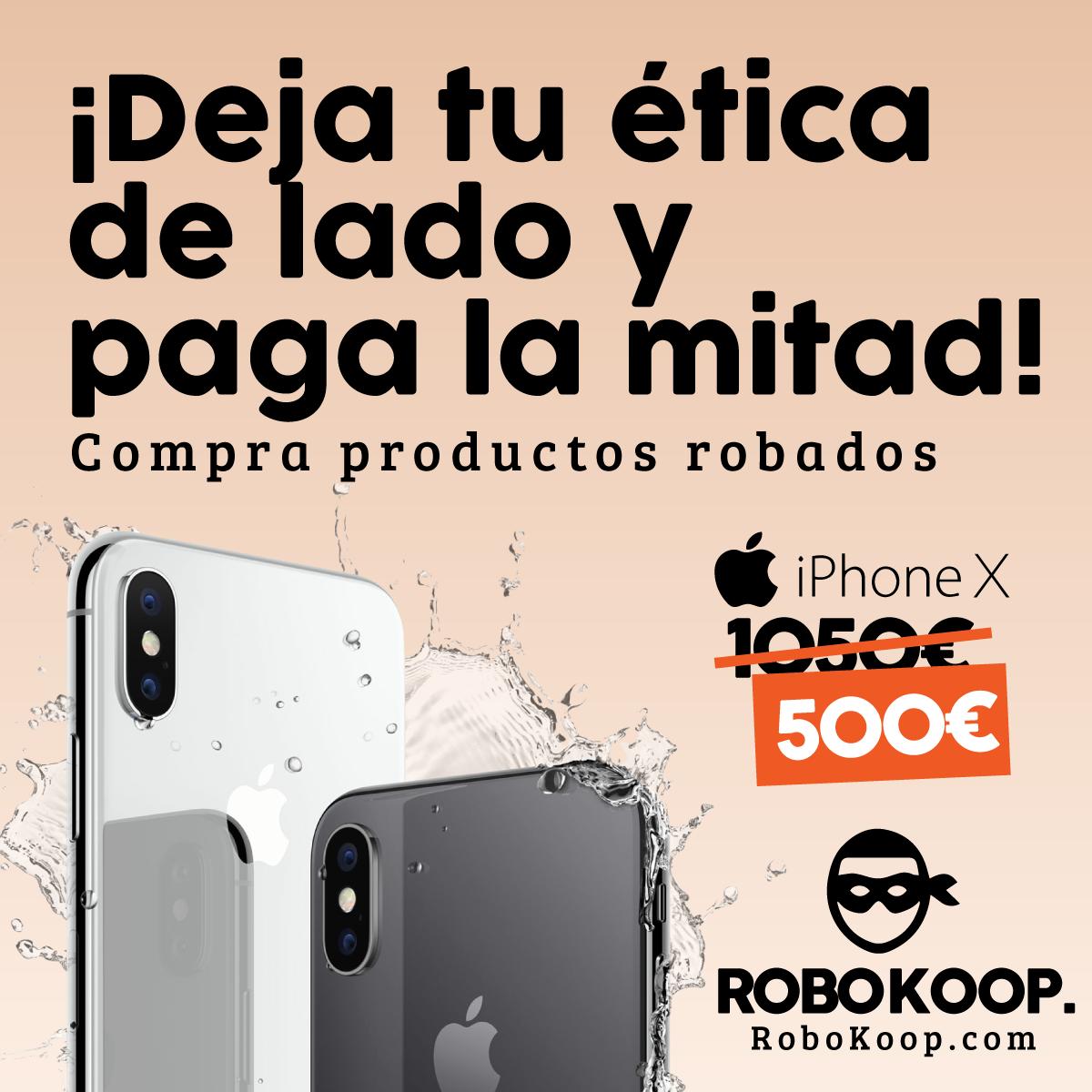 Gráfica para redes de la campaña Robokoop