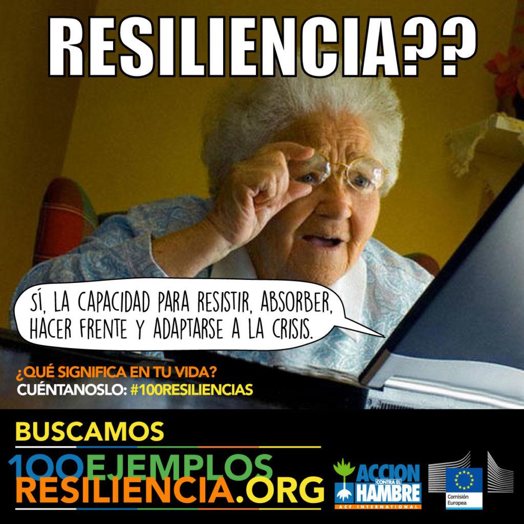 Gráfica 4 para redes sociales de la campaña 100 ejemplos de resiliencia de Acción Contra el Hambre