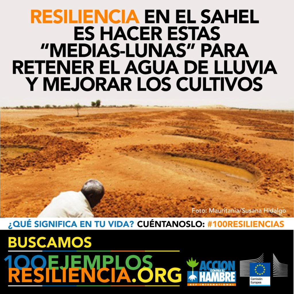 Gráfica 6 para redes sociales de la campaña 100 ejemplos de resiliencia de Acción Contra el Hambre