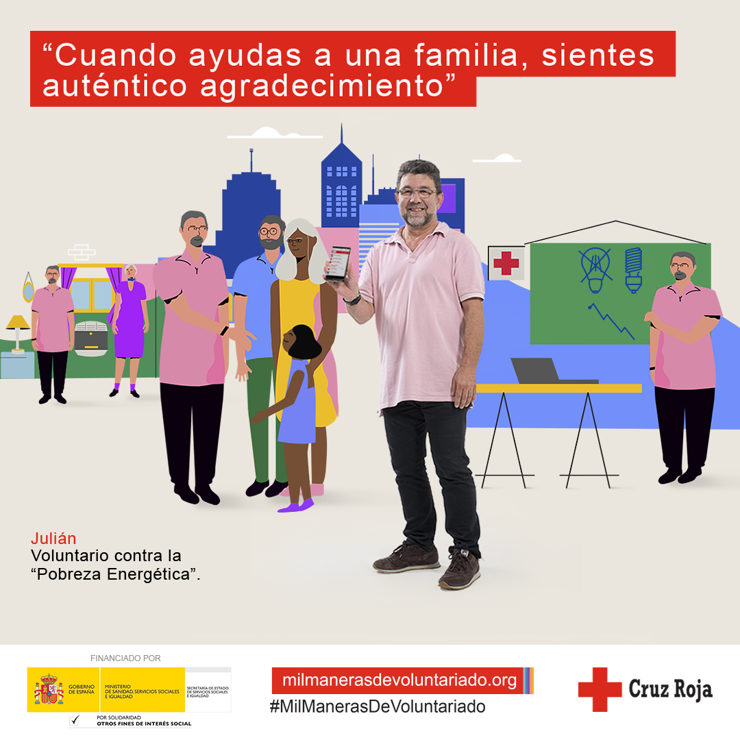 Imagen 2 para redes sociales de la campaña Mil Maneras de Voluntariado de Cruz Roja