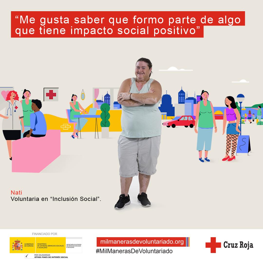 Imagen para redes sociales de la campaña Mil Maneras de Voluntariado de Cruz Roja