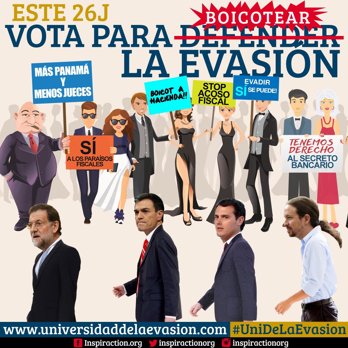 Gráfica para redes sociales de la campaña Universidad de la Evasión para la ONG InspirAction