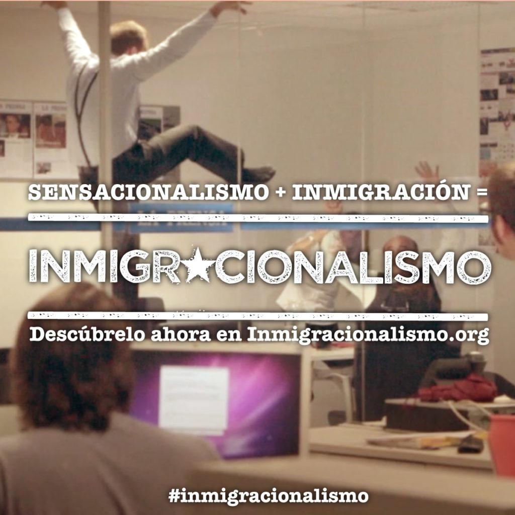 """Gráfica para redes sociales de la campaña """"Inmigracionalismo"""" para la ONG Red Acoge"""