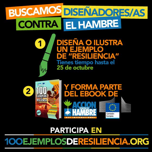 Gráfica 2 para redes sociales de la campaña 100 ejemplos de resiliencia de Acción Contra el Hambre