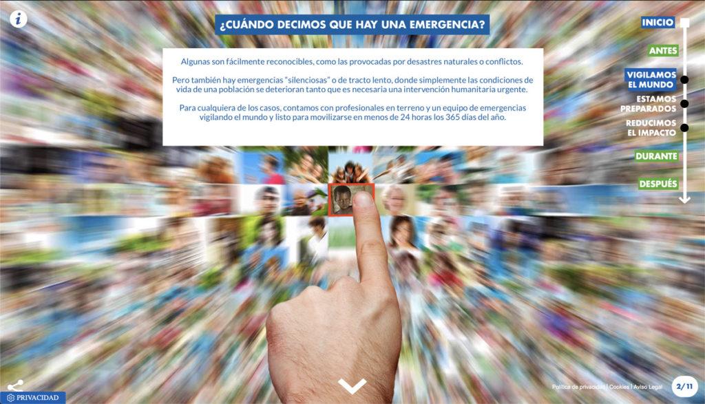 """Imagen 4 extraída del microsite de la campaña """"Detrás de la emergencia"""""""