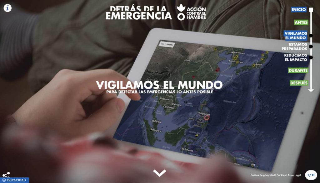 """Imagen extraída del microsite de la campaña """"Detrás de la emergencia"""""""