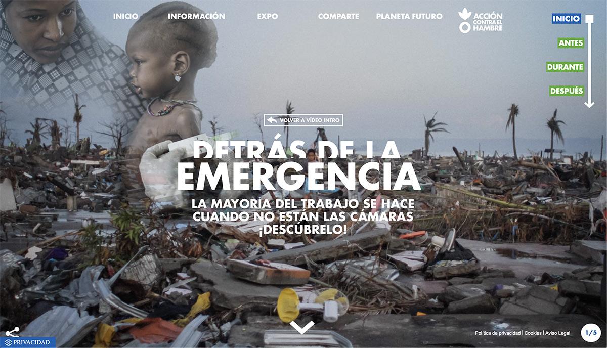 """Imagen del microsite de """"Detrás de la emergencia"""""""
