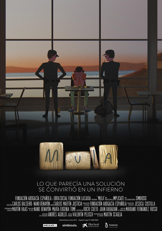 Cartel del cortometraje MULA para la Fundación Abogacía Española
