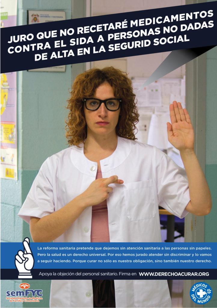 Gráfica 2 de la campaña Derecho a curar de Implícate para Médicos del Mundo