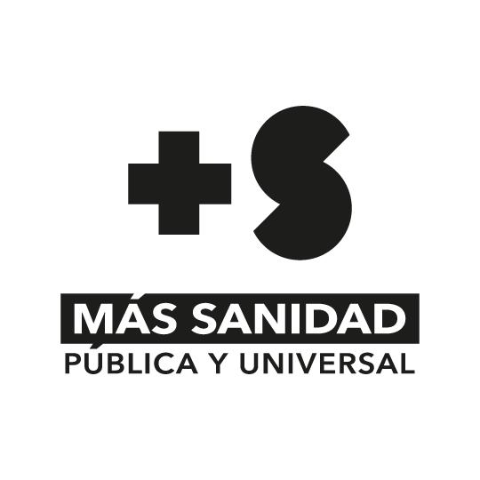 símbolo + S blanco