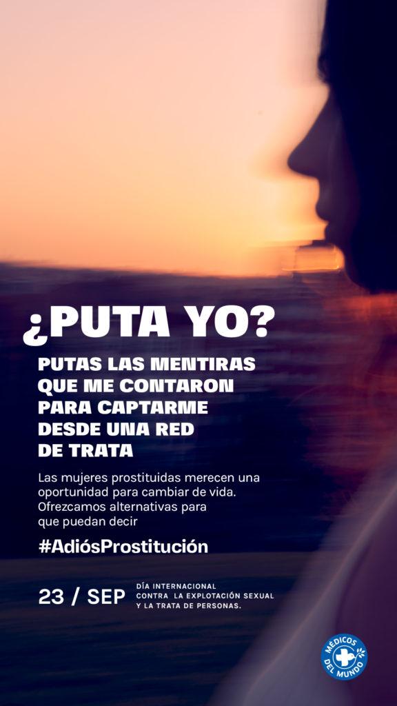 Gráfica Médicos del mundo adiós prostitución